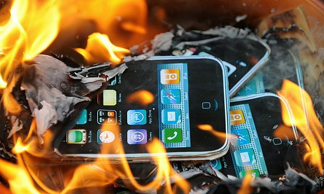 Le téléphone a grillé