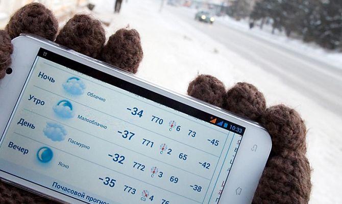 Smartphone dans le froid