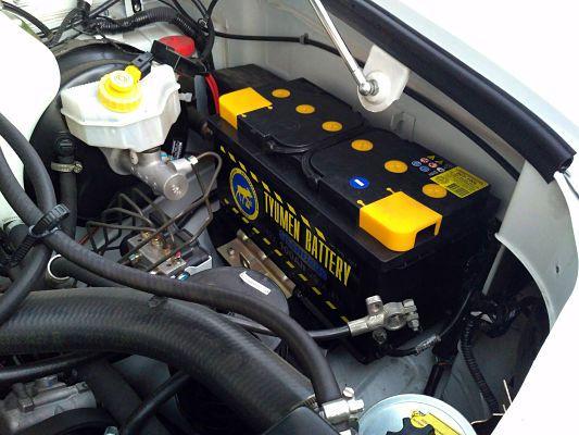 Batterie Tyumen installée dans la voiture