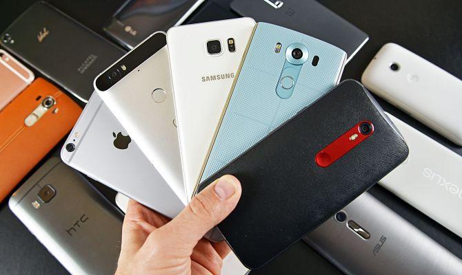 Téléphones modernes