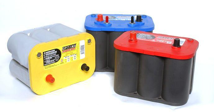 Types de batteries Optima