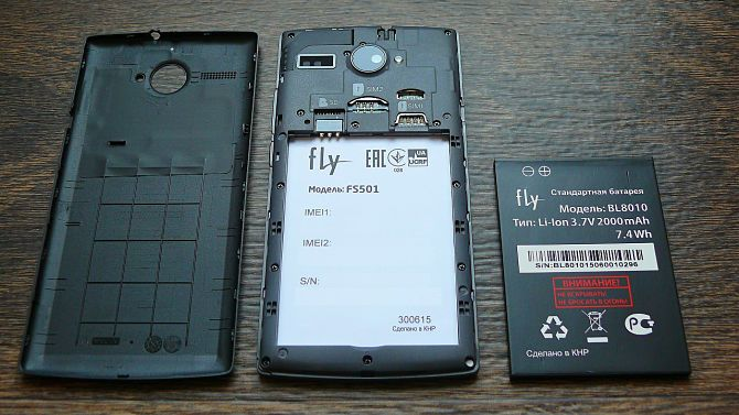 Fly phone avec batterie amovible