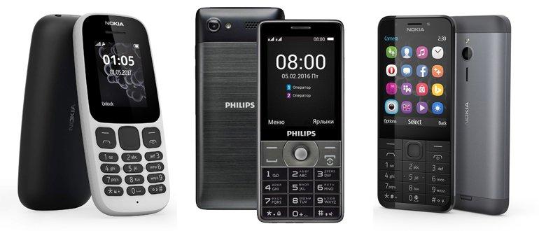 Téléphones à bouton-poussoir