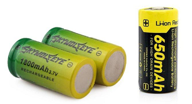 batterie li-ion 16340