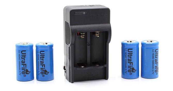 Chargeur et batteries 16340