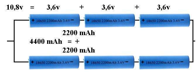 Schéma de connexion de la batterie de l'ordinateur portable