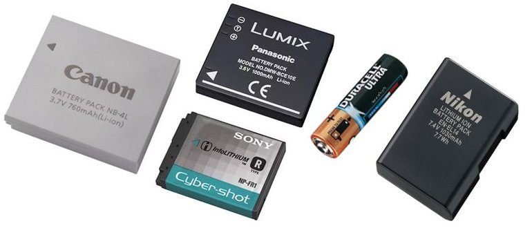 Batteries pour l'appareil photo